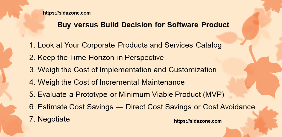 7 Steps for Making Buy versus Build Decision for Software Product